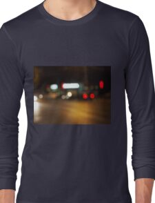 Abstract defocused red and yellow lights Long Sleeve T-Shirt