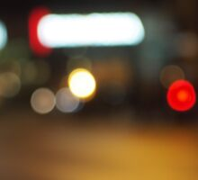 Abstract defocused red and yellow lights Sticker
