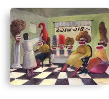 Big Wigs and False Teeth Canvas Print