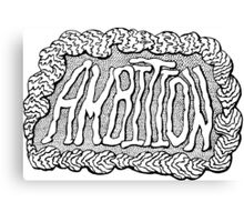 Ambition - Digital Typography Graphic Design Canvas Print