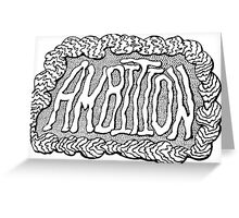 Ambition - Digital Typography Graphic Design Greeting Card