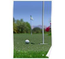 Golf ball on Green Poster
