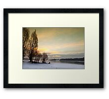 Cold Dawn - Bewl Water, East Sussex, UK Framed Print