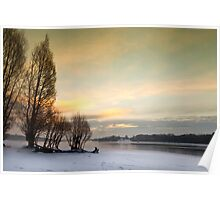 Cold Dawn - Bewl Water, East Sussex, UK Poster