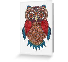 Pattern Owl Greeting Card