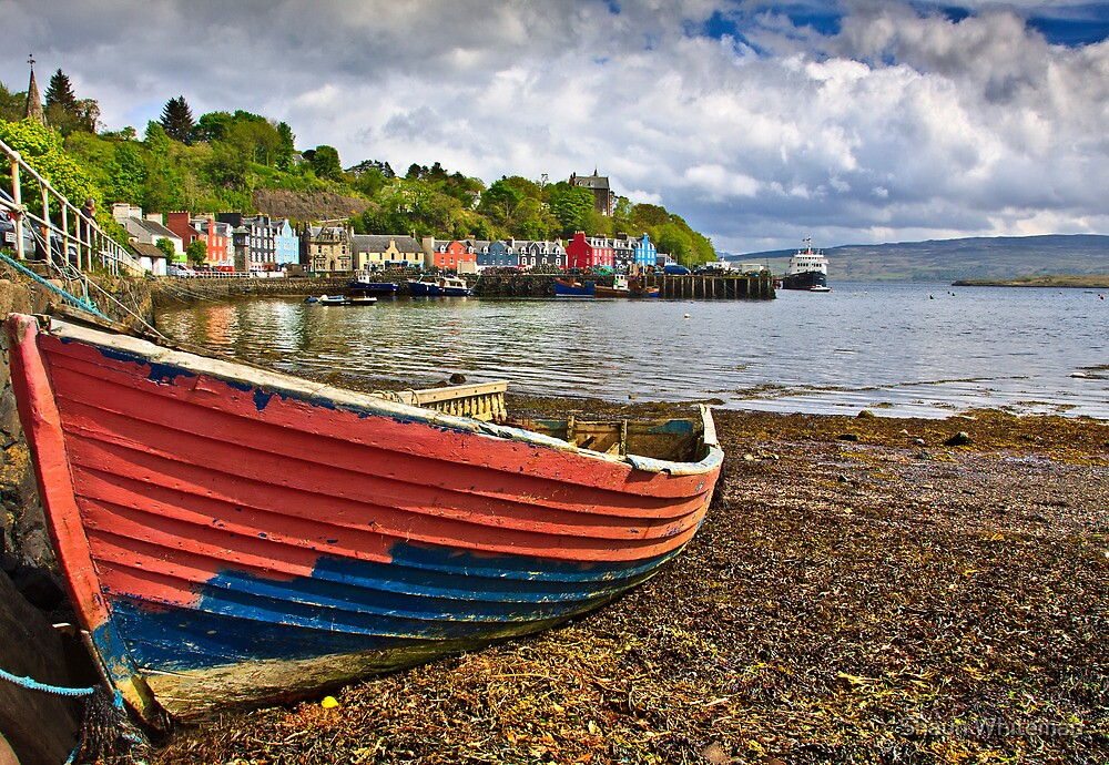 Old boat in Tobermory harbour by Shaun Whiteman