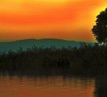 sunset from iznik lake by Mustafa UZEL