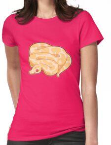 Albino Ball Python Womens Fitted T-Shirt