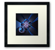 Portal with Blue Glass Ball Framed Print
