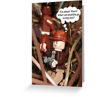 Losing Focus Greeting Card