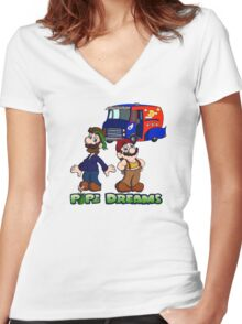 Mario and Luigi - Pipe Dreams Women's Fitted V-Neck T-Shirt