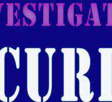 Security in Blue Sticker