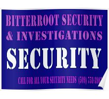 Security in Blue Poster