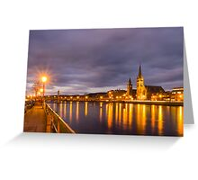 Church and Bridge Reflections on the River Ness Greeting Card