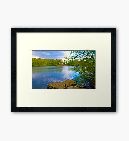 Brady Lake Dock Framed Print