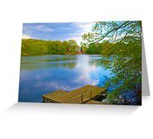 Brady Lake Dock Greeting Card