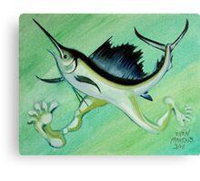Sword Fish Run Canvas Print