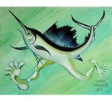 Sword Fish Run Photographic Print
