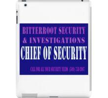 Chief in Blue iPad Case/Skin