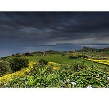Vista panoramica di Scopello Photographic Print
