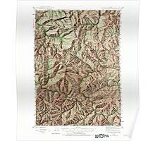 USGS Topo Map Oregon Dutchman Butte 282435 1946 62500 Poster