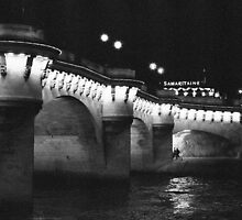 Pont Neuf at Night, Paris by Susan Chandler