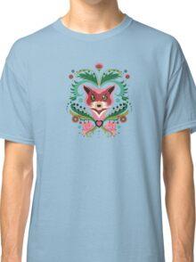 Pink FOX Portrait with Snails Classic T-Shirt