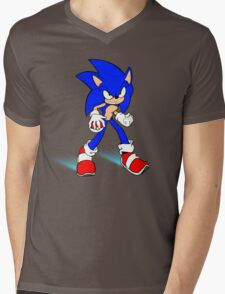 Sonic : Super Fast Pokemon Trainer Mens V-Neck T-Shirt