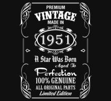 Premium Vintage Made In 1951 by tshiart