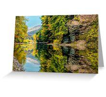 Pine Creek Reflection Greeting Card