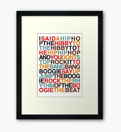 Rapper's Delight - Sugarhill Gang Framed Print