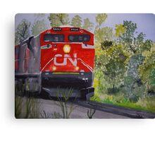 Vicky's train Canvas Print