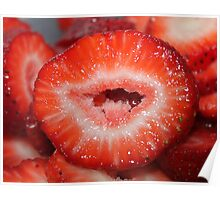 Strawberry lips..... Poster