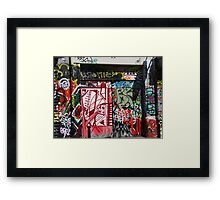 Street art Framed Print