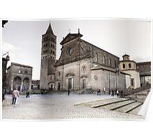 Cattedrale del Palazzo Dei Papi, Viterbo Poster