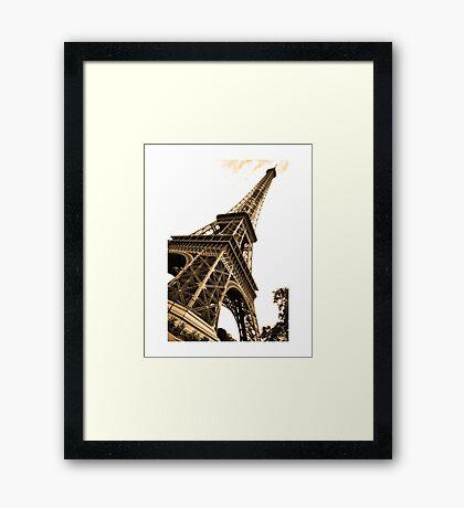 Skewed Eiffel Tower Framed Print