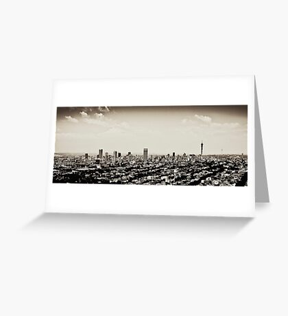 Johannesburg East with CBD in Background Greeting Card