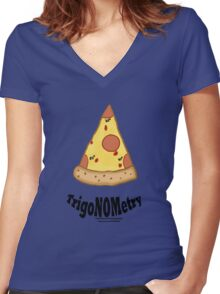 TrigaNOMetry Nerd-Humor T-Shirt Women's Fitted V-Neck T-Shirt