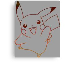 pokemon pikachu anime manga shirt Canvas Print