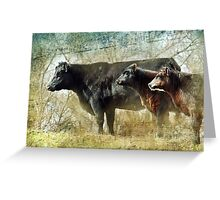 Bovine Symphony Greeting Card