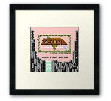 Zelda - The Saga Begins Framed Print