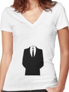 Didn't want to be too formal... Women's Fitted V-Neck T-Shirt
