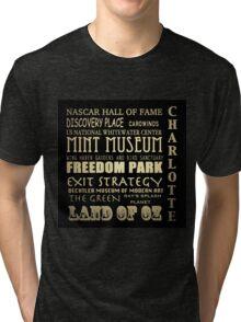 Charlotte North Carolina Famous Landmarks Tri-blend T-Shirt