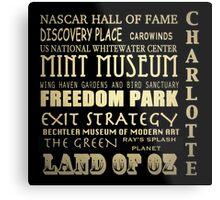 Charlotte North Carolina Famous Landmarks Metal Print