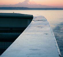 Mt Rainier and Ferry Rail by mrscaer