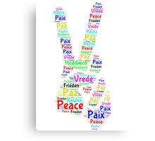 Peace Across the World Canvas Print