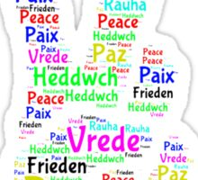 Peace Across the World Sticker