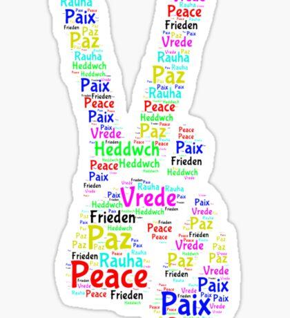 Peace Across the World Sticker
