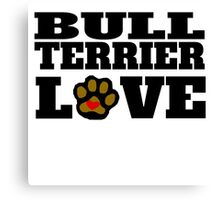 Bull Terrier Love Canvas Print