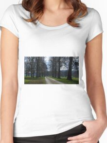 Pastoral country scene Women's Fitted Scoop T-Shirt